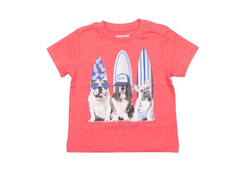 Mayoral Mayoral T-Shirt Surfer Dogs Rood