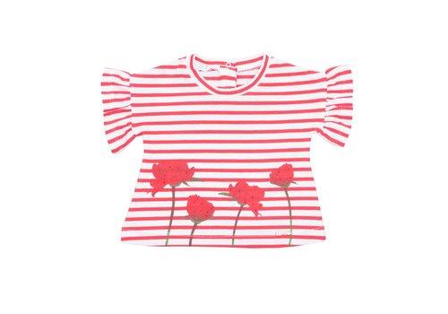 Liu Jo Liu Jo T-Shirt Rood - Wit Roosjes