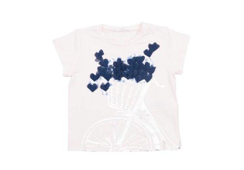 Liu Jo Liu Jo T-Shirt Hartjes Blauw