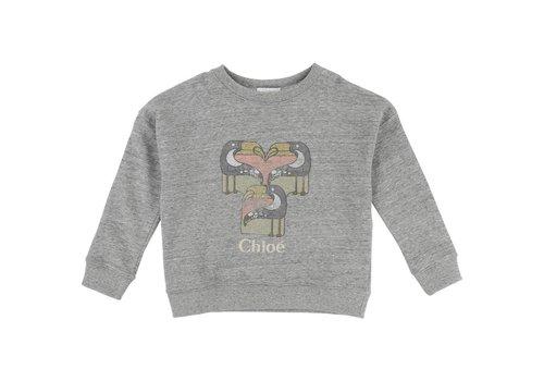 Chloe Chloe Sweater Grey Toekan