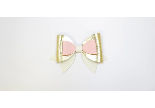 Pluisjes Pluisjes Clips Deluxe S White - Creme Baby Pink