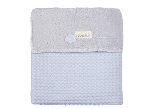 Koeka Koeka Baby Crib Blanket Oslo 75 x 100 Light Blue - Silver Gray
