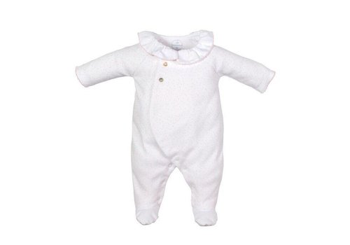 Laranjinha Laranjinha Pyjamas With Feet Round Collar Pink