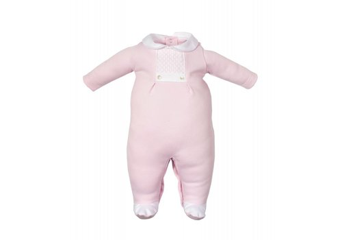 Laranjinha Laranjinha Pyjamas With Feet Pink - White