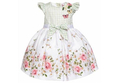 Monnalisa Monnalisa Dress Green Flowers