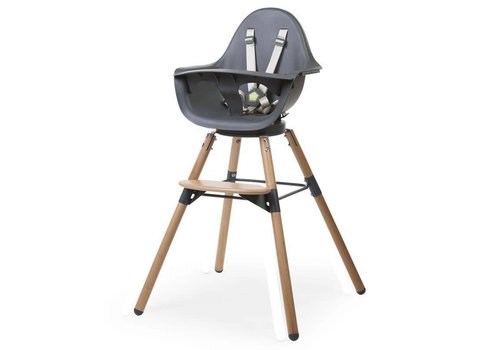 Childhome Childhome Stoel Evolu 80 Naturel - Antraciet
