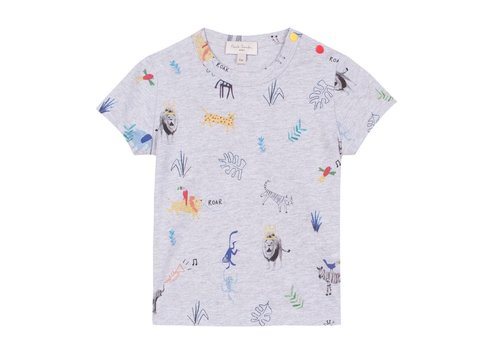 Paul Smith Paul Smith T-Shirt 'Animals' Lichtgrijs