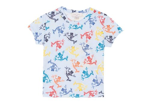 Paul Smith Paul Smith T-Shirt 'Kikkers' Baby Blauw