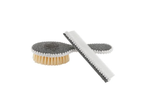 Theophile & Patachou Theophile & Patachou Brush And Comb Embroidered + Pochet Anthracite