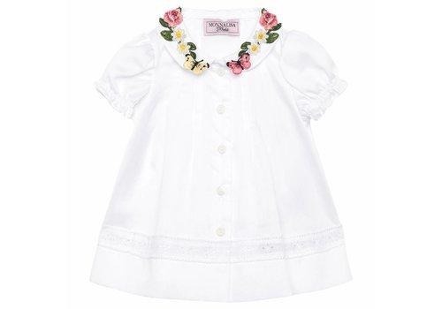 Monnalisa Monnalisa Shirt White Daisy Roses