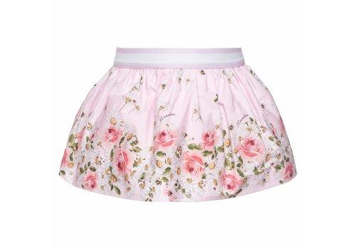 Monnalisa Monnalisa Skirt Pink St.Daisy Roses