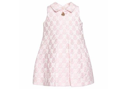 Monnalisa Monnalisa Dress Pink Jacquard