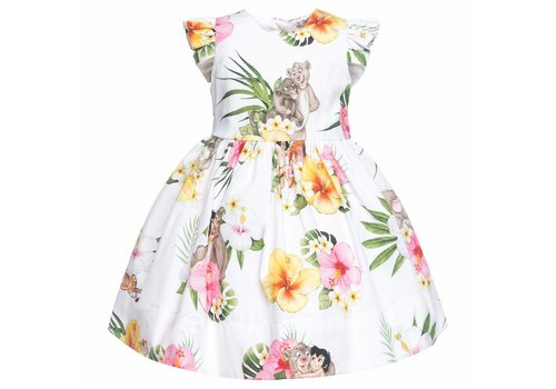 Monnalisa Monnalisa Dress Jungle Book White