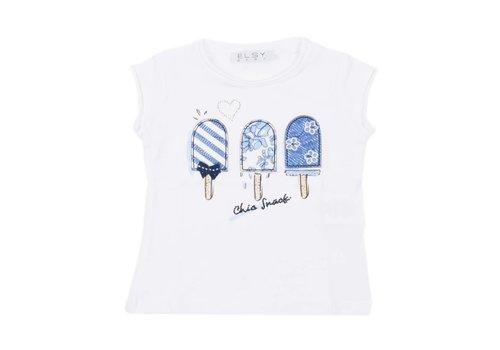 Elsy Elsy T-Shirt Nocciola Jersey