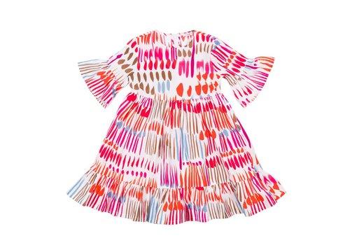 Il Gufo Il Gufo Dress Orange - Red Spots