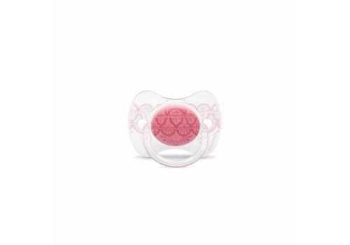 Suavinex Suavinex Couture Fopspeen Silicone - Phys. - 0/4M - Pink