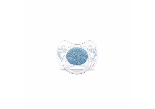 Suavinex Suavinex Couture Fopspeen Silicone - Phys. - 0/4M - Light Blue