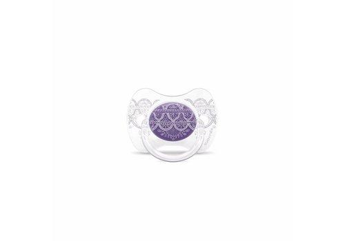 Suavinex Suavinex Couture Fopspeen Silicone - Phys. - 4/18M -Purple