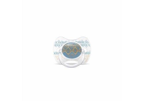 Suavinex Suavinex Couture Fopspeen Silicone - Phys. - 4/18M -Light Blue
