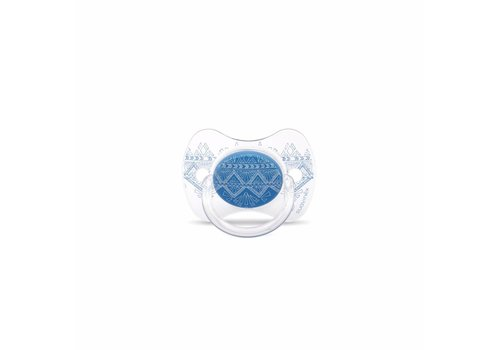 Suavinex Suavinex Couture Fopspeen Silicone - Phys. - 4/18M -Dark Blue