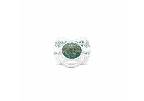 Suavinex Suavinex Couture Fopspeen Silicone - Phys. - 4/18M -Green