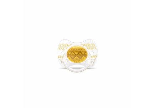 Suavinex Suavinex Couture Fopspeen Silicone - Phys. - +18M -Yellow