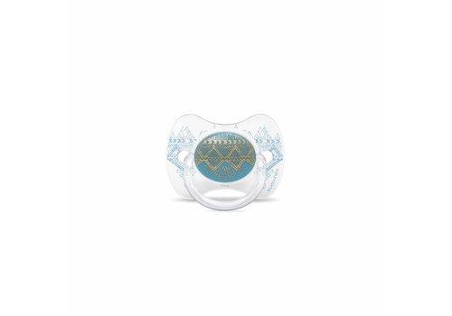 Suavinex Suavinex Couture Fopspeen Silicone - Phys. - +18M -Light Blue