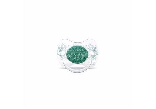 Suavinex Suavinex Couture Fopspeen Silicone - Phys. - +18M -Green