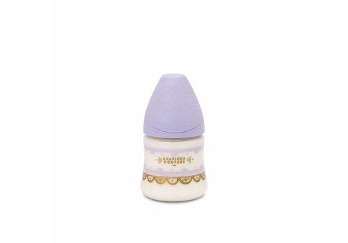Suavinex Suavinex Couture Feeding Bottle Silicone - +0S - 150ml- Lila