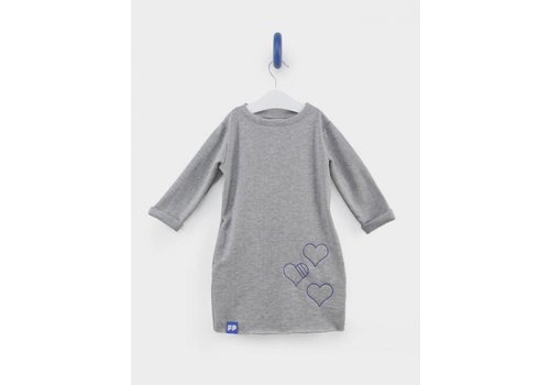 From Paris From Paris Sweatershirt Dress Grijs - Blauw