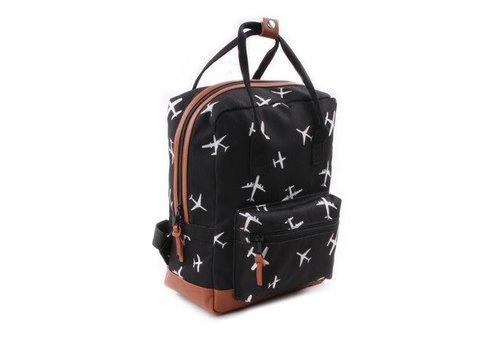 Kidzroom Kidzroom Backpack Black - White Hearts 30 x 23 x 13