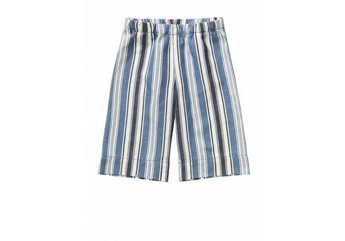 Il Gufo Il Gufo Capri Pants Denim Blauw