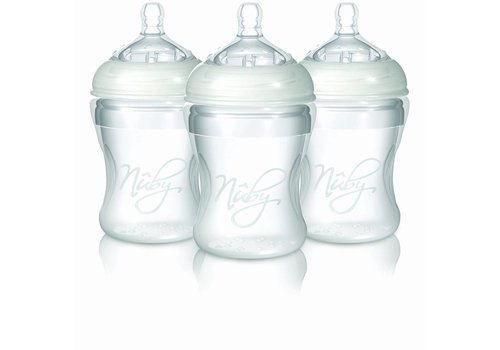 Nuby Nuby Siliconen Fles 210 ml Zonder Handvat 3 Pack