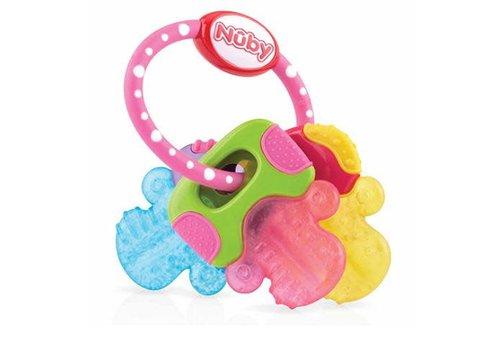 Nuby Nuby IcyBite Teether Keys Pink - 3M+