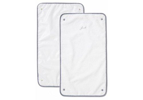 First First Alix 2 Towels 40x70 White-Denim