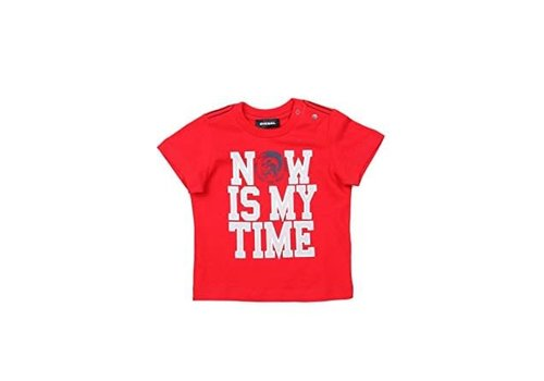 Diesel Diesel T-Shirt Red Now Is My Time