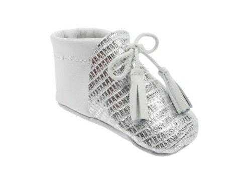 Le Petit Fils Du Cordonnier Le Petit Fils Du Cordonnier Baby Shoes Colibri Silver White