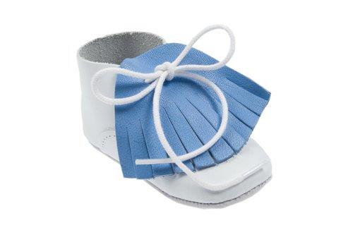 Le Petit Fils Du Cordonnier Le Petit Fils Du Cordonnier Baby Shoes White - Blue