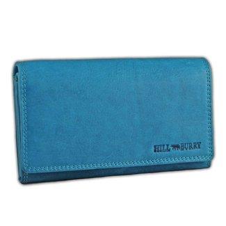 Hill Burry VL77709 Leren Dames Portemonnee - Overslag Model - Licht blauw
