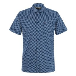 Merc Avery Retro Geo Print Overhemd, Regular fit