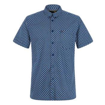 Merc Avery Retro Geo Print Overhemd, Regular fit
