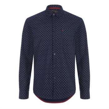 Merc Lennox Small Paisley Print Overhemd, Regular fit