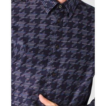 Ben Sherman Linear Dogtooth Overprint Overhemd, Regular fit