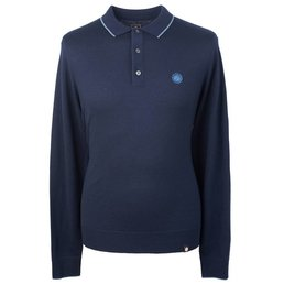 Pretty Green Tilson Knitted Polo, lange mouwen