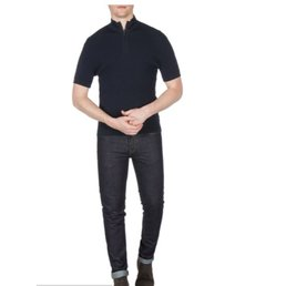 Ben Sherman Funnel Neck Knitted Polo