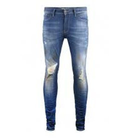 Pure White Jone22 Jeans Blue Damaged