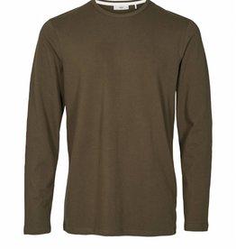 Minimum Roka Long Sleeve Tee 327 Army Green