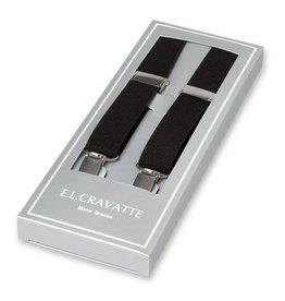 E.L. Cravatte Bretels Black