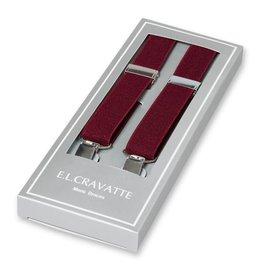 E.L. Cravatte Bretels Bordeaux