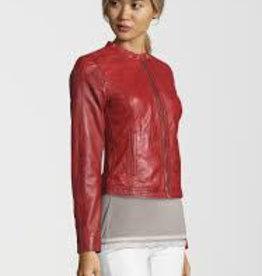 Freaky Nation Carol Leather Jacket Red